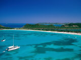 Deep Bay  Beach and Yachts  Blue Water  Antigua  Caribbean Islands