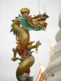 Chinese Dragon  Golden Mount  Wat Saket Temple  Bangkok  Thailand