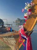 Traditional Longtail Boat  Ao Lo Dalam  Ko Phi Phi  Thailand
