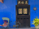 Old Rickshaws and House Front  Georgetown  Penang  Malaysia