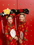 Women Dressed in Traditional Costume  Beijing  China