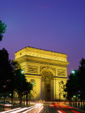 Arc de Triomphe  Night View  Paris  France