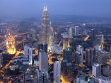 Petronas Twin Towers from Kl Tower  Kuala Lumpur  Malaysia