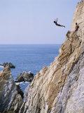 La Quebrada  Cliff Diver  Acapulco  Mexico