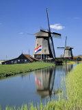 Windmills near Amsterdam  Holland