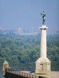 Statue of Pobednik  Kalemegdan  Belgrade  Serbia