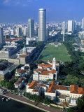 Aerial View over Central Singapore