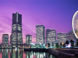Night View of Minatomirai  Yokohama Pier  Yokohama  Honshu  Japan