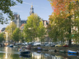 Canal in Amsterdam  Holland