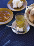 Moroccan Breakfast: Mint Tea  and Bread  Ait Benhaddou  Atlas Mountains  Morocco