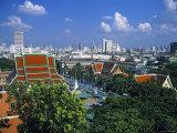 Wat Saket from Golden Mount  Bangkok  Thailand