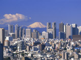 MtFuji and Tokyo Shinjuku Area Skyline  Tokyo  Japan