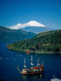Mount Fuji and Lake Ashi  Hakone  Honshu  Japan