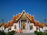 Marble Temple  Monks  Bangkok  Thailand