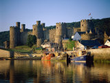 Conwy Castle and River Conwy  Wales