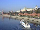 Kremlin and Moskva River  Moscow  Russia