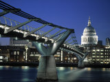 Millennium Bridge and St Paul's  London  England
