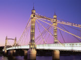 Albert Bridge  Chelsea  London  England