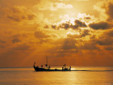 Boat at Sunset  Maldives  Indian Ocean