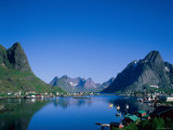 Typical Scenery  Mountains and Sea  Reine  Lofoten Islands  Norway