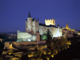 Alcazar  Night View  Segovia  Castilla Y Leon  Spain