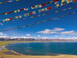 Prayer Flags at Nam Tso Lake  Central Tibet