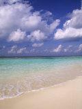 Tropical Beach at Maldives  Indian Ocean