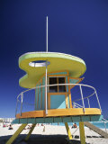 Lifeguard Station at Miami Beach  Florida  USA