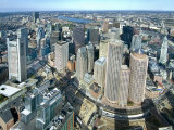 Aerial View of Downtown Boston  Massachusetts  USA