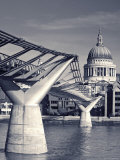 St Paul's and Millennium bridge  London  England