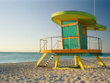 Lifeguard Hut on Beach  South Beach  Miami Beach  Miami  Florida  USA