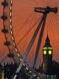 Millennium Wheel and Big Ben  London  England
