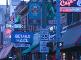 Beale Street Entertainment Area  Memphis  Tennessee  USA