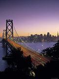 Oakland Bay Bridge  San Francisco  California  USA