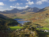 View to Llynnau Mymbyr and Mt Snowdon  North Wales