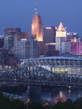 Cincinnati and Ohio Rvier  Ohio  USA