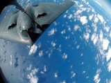 KC-135 Stratotanker Refuels B-2 Spirit