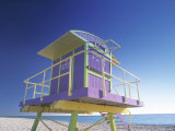 Lifeguard Station at Miami Beach  Miami  USA