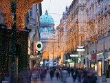 Hofburg and Kohlmarkt  Vienna  Austria