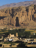 Cliffs with Empty Niche Where the Famous Carved Buddha Once Stood  Afghanistan  Bamiyan Province