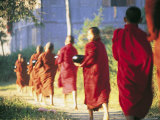 Buddhist Monks Bearing Alms  Burma