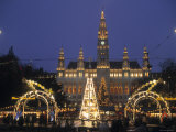 Rathaus at Christmas  Vienna  Austria