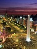 Obelisko  Avenida 9 de Julio  Buenos Aires  Argentina