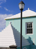Traditional White Stone Roofs on Colourful Bermuda Houses