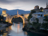 Mostar and Old Bridge over the Neretva River  Bosnia and Herzegovina