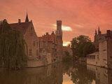 Belfort and River Dijver  Bruges  Belgium