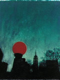 Scarlet Streetlight with Chrysler Building