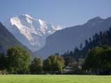 Jungfrau and Interlaken  Berner Oberland  Switzerland