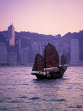 Chinese Junk  Victoria Harbour  Hong Kong  China