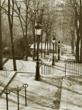 Steps to Montmartre  Paris  France